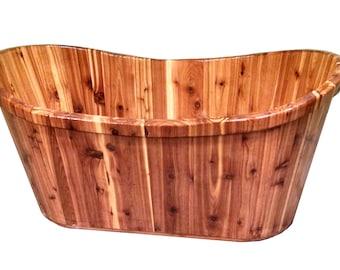 Cedar Wooden Clawfoot Ofuro Bathtub - Solid Wood