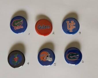 "Florida Gators Pin Back Buttons 1.25"""