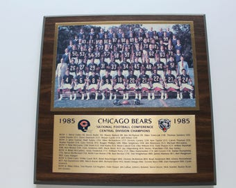 Vintage Chicago Bears Wall Plaque 1985
