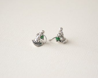 Harry Potter Earrings, Sorting Hat Earrings, Slytherin Earrings, Harry Potter Jewelry, Slytherin Jewelry, Sorting Hat Jewelry, Trending