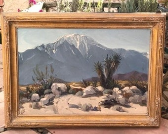 Louis Krupp 1888-1978-California Impressionist Painting Oil on Board , Signed and dated