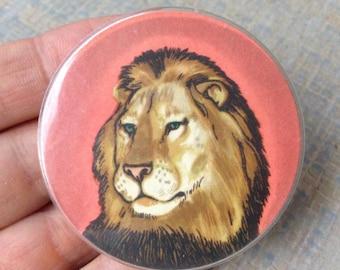 "Vintage Soviet Russian plastic badge,pin.""LION""."