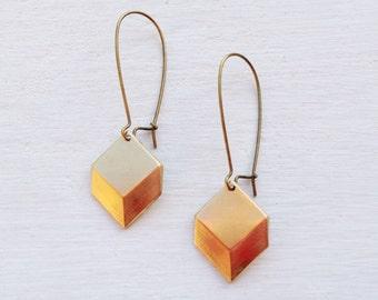 Geometric Earrings/Boho Earrings/Modern Earrings/Art Deco Earrings/Triangle Earrings/Boho Chic/Dangle Earrings/Gift For Her/Square Earrings