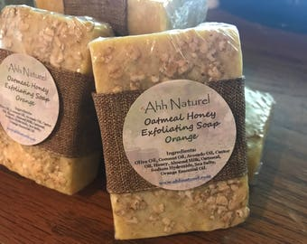 Oatmeal Honey Orange Exfoliating Soap Bar