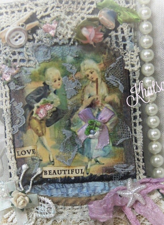 18TH CENTURY -  MARIA ANTOINETTE Ornaments, premade Page Albums,Gift Tags,Scrapbooking, Fabric tag, Hang Tags, Elite4u  By Khatsart