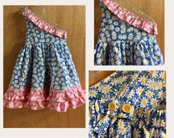 One Shoulder Daisy Dress, size 3t