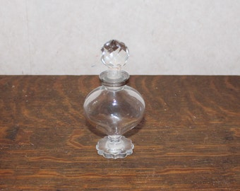 Vintage Clear Glass Perfume Bottle – Made in France
