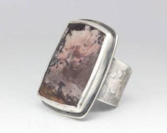 Outback Jasper Ring, Jasper & Sterling Ring, Boho Ring, Landscape, Statement Ring, Unisex, Size 9-11