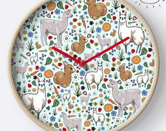 Llama Clock, Llama Home Gift, Llama Room, Llama Nursery, Llama Decor, Llama Birthday Gift, Llama Interior, Llamas, Llama Gifts for Her