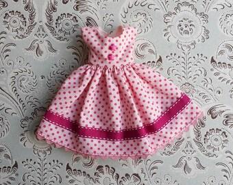 Pink Polka Dot Blythe Dress