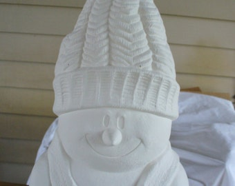 Ceramic Bisque Snowman