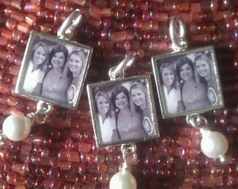 Bridesmaids Photo Charms, Best Friends Photo Charms, Sisters Photo Charms