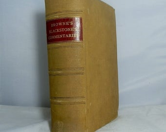 Antique Cloth Hardcover Book 1897 Commentaries on the Laws of England by William Blackstone