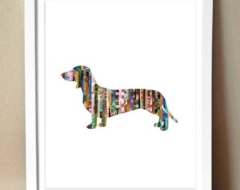 Dachshund [Wiener dog] Magazine Strip Giclee Art Print - Various Sizes