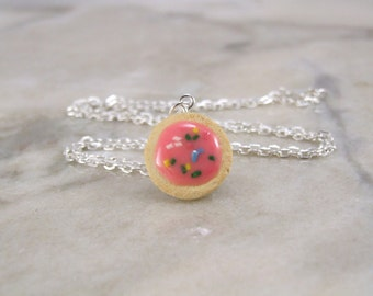 Miniature Scented Sugar Cookie Polymer Clay Necklace