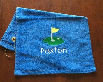 Kids golf towel, golf team towels, golf, personalized golf, personalized, golf gift,personalized towel, golf accessorries, embroidered,