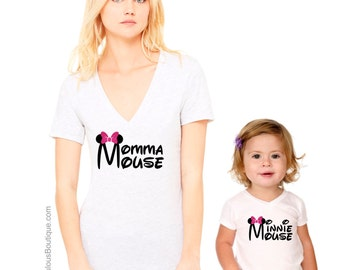 Matching Disney Shirts, Mother Daughter Shirts, Minnie Mouse Shirt, Mommy and Me Matching Shirts, Momma Mouse
