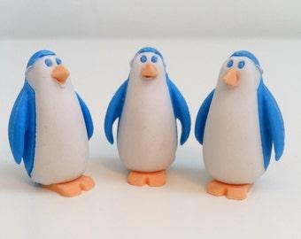 Blue Penguin Novelty Eraser