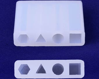 1pcs silicone mold for resin jewellery Gemstone Making Pendant Resin 53*43mm 10172350