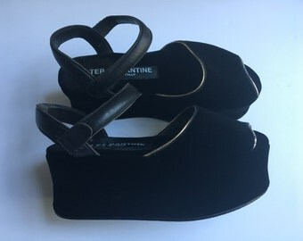 Ter Et Bantine Platform Velvet Shoes 7.5 8 38