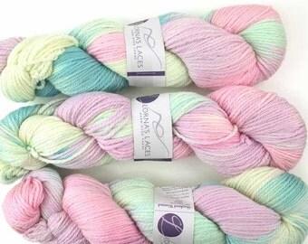 Lorna's Laces, Shepherd Worsted, colorway Princess Donna, Aran weight superwash merino wool knitting yarn, pastels