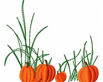 Pumpkins Machine Embroidery Design - Instant Download
