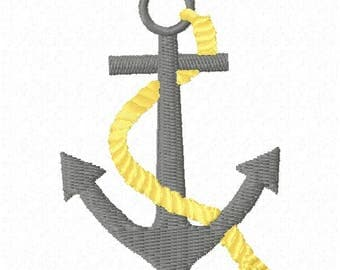 Anchor Machine Embroidery Design - Instant Download