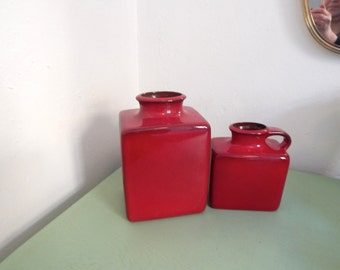 Red Vases - Gräflich Ortenburg - MId Century - Form number 675/2 and 699