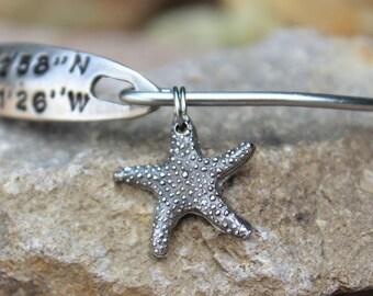 Starfish Charm - Mantra Bangle Bracelets - Interchangeable - Bangle Charm Bracelets - Starfish Silver Charm for Bangle Bracelet - Star Fish