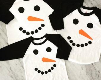 kids snowman shirt, family christmas shirts, matching family shirts, cute christmas card family shirts, snowman, winter