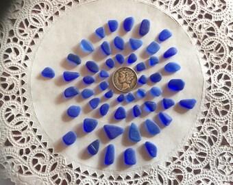 FREE Shipping teeny, tiny Small  Blue Genuine Sea Glass CC-F24-52-A