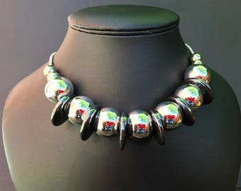 Chrome And Hematite Necklace