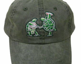 Terrapin Station Embroidered Baseball Cap - Light Green