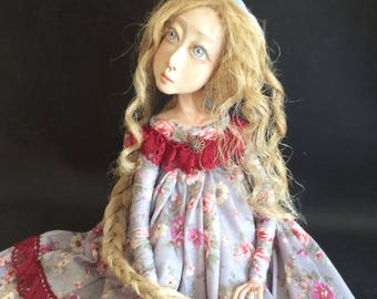 Art doll OOAK doll Ooak art doll Paperclay doll Handmade doll Collectible doll Air dry clay doll Decorative doll Interior doll Sculpted doll