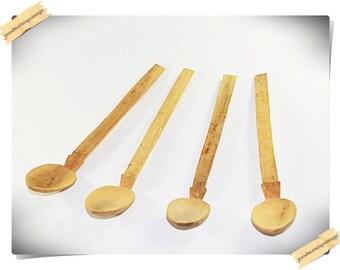 primitive wood spoons