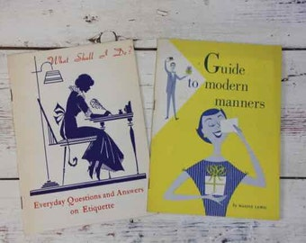 Guide to Modern Manners What Shall I Do? Etiquette Questions and Answers Maxine Lewis 1950s  General Motors Manners Booklets