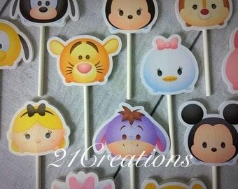Tsum Tsum cupcake toppers