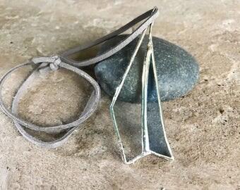 Unique Stained Glass Necklace Pendant