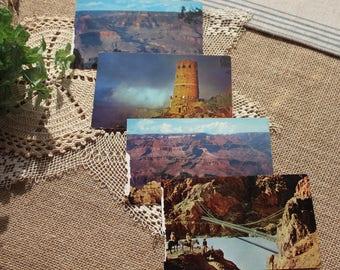 a set of 4 vintage Grand Canyon postcards,vintage Fred Harvey postcards,Vintage hotel shop postcards,    4GRCN