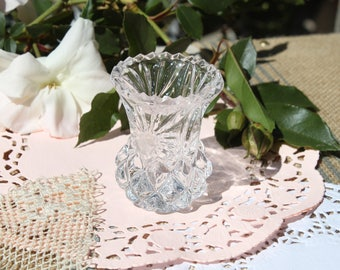 A pretty glass toothpick holder 2.5 tall