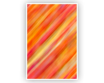 Colorful Abstract Art, Modern Artwork, Lines And Stripes Pattern, Vertical Print, Red Neon Wall Art, Contemporary Home & Office Decor