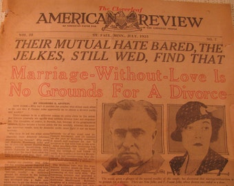 1933 American Review newspaper from St Paul , MN.