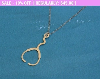 SALE!!! Gold Stethoscope Necklace , Doctor's Stethoscope Jewelry , Nurse Jewelry , Gift for Doctor , Gift for Medical Student