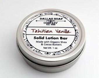 Tahitian Vanilla Solid Lotion Bar