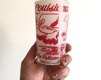 Vintage Souvenir Drinking Glass - Louisiana - Floyd Jones Vintage