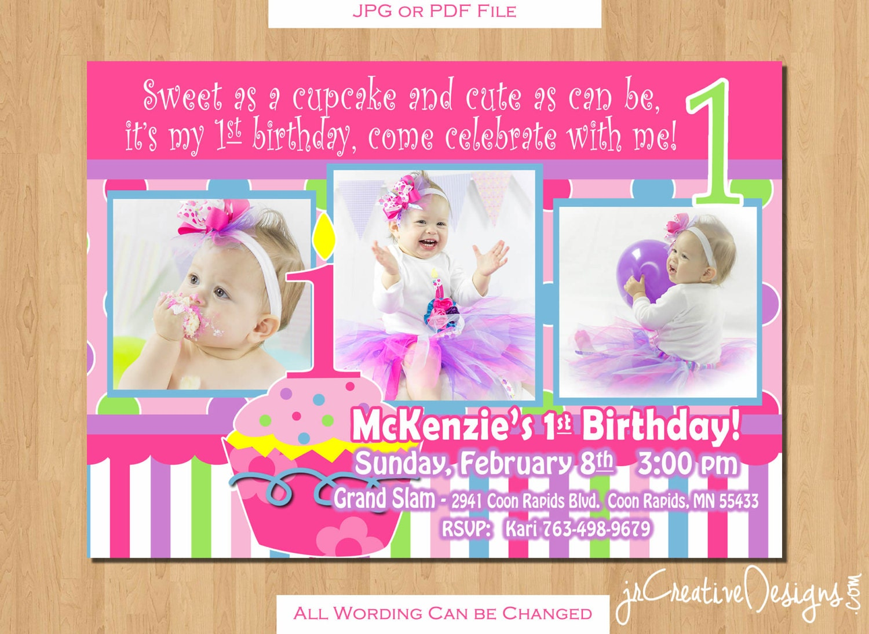 birthday party package printable birthday banner Girl 1st birthday ...