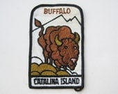 Vintage Buffalo Catalina Island California Embroidered Jacket Patch