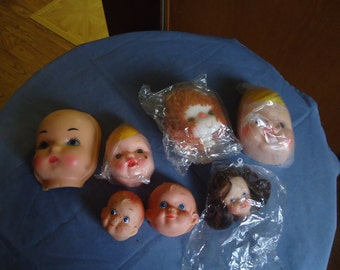 Various Doll Heads for Doll Making
