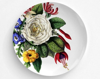 Floral Melamine Plate, Melamine Plate, decorative plate, Dinner Plate, Serving Plate, gift for mom