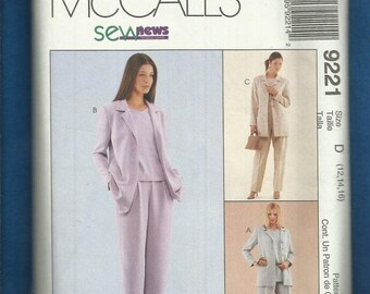 15% OFF SPRING SALE McCalls 9221 Easy Fitting Summer Pants and Jacket Outfit Size 12..14..16 Uncut